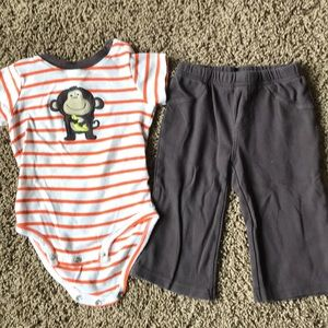 Monkey around 18 month Carter outfit